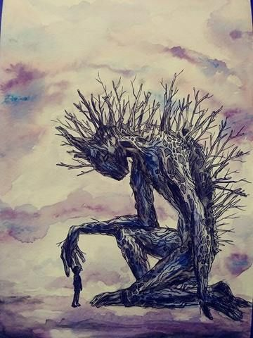 A Monster Calls Watercolor Posted By U Ofcabbagesandkings14 To