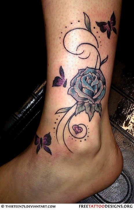 47 Ideas Tattoo Ankle Bracelet Kids Ankle Tattoos For Women Rose Tattoo On Ankle Butterfly Ankle Tattoos