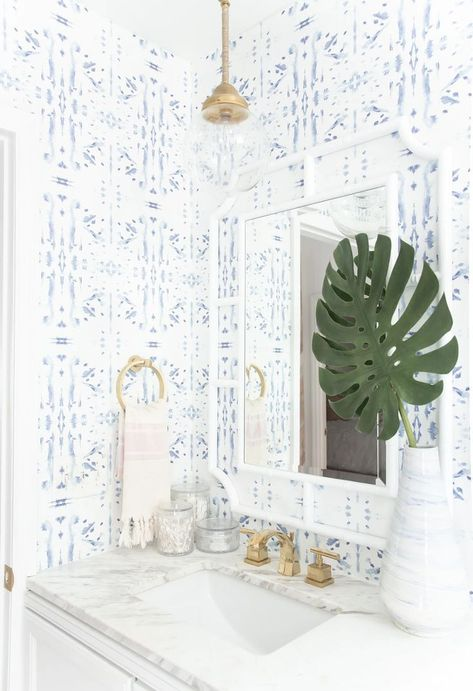 Bathroom Ideas In Blue . Bathroom Ideas In Blue . Corfu Blue In 2020 Bathroom Wallpaper Trends, Bathroom Trends, Of Wallpaper, Bathroom Ideas, Wallpaper For Small Bathrooms, Bathroom Inspo, Bathroom Colors, Coastal Wallpaper, Wallpaper Ideas