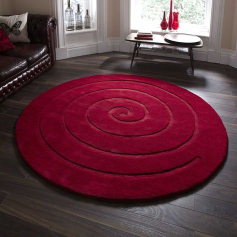 Spiral Circular Rugs Are Hand Made With A Soft 100 Wool