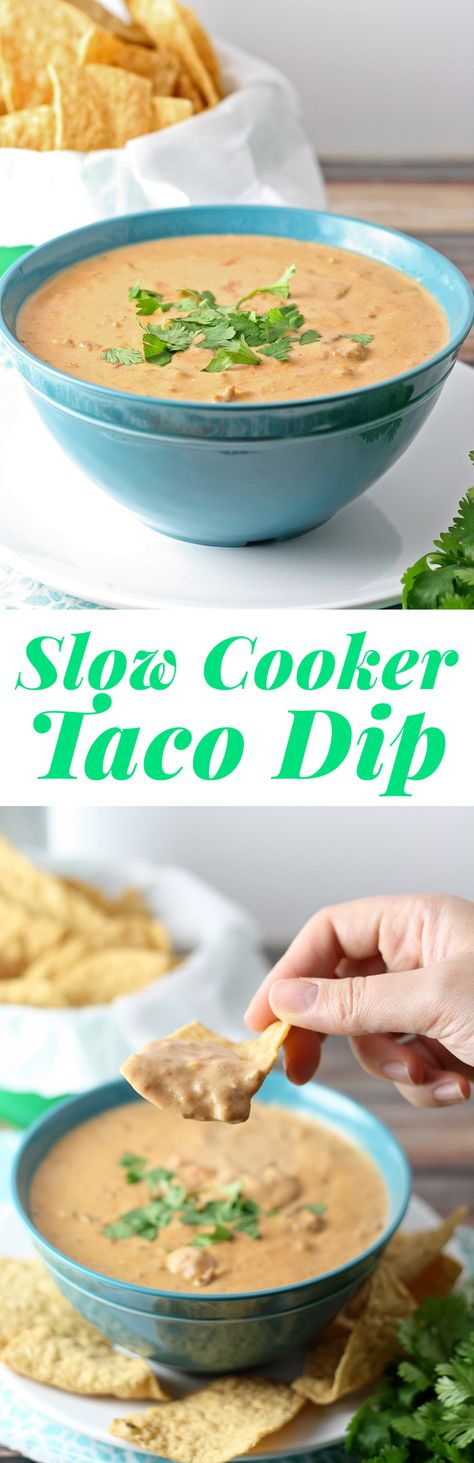 It's time to start thinking about football and tailgating! This recipe for slow cooker taco dip would be perfect for fall.   honeyandbirch.com