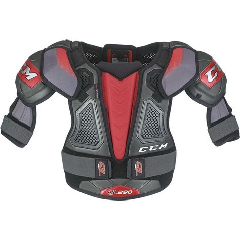 Ccm Senior Quicklite 290 Ice Hockey Shoulder Pads Black Hockey Shoulder Pads Shoulder Pads Ice Hockey