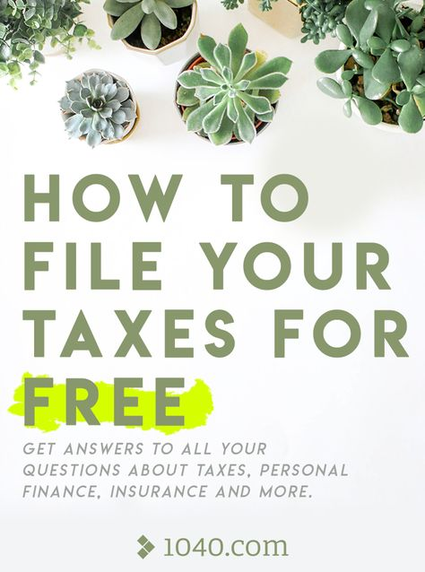 How To File Your Taxes For Free Get Answers To All Your Questions About Taxes Personal Finance Insuranc Tax Questions Filing Taxes This Or That Questions