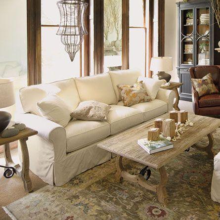 Baldwin Slipcovered Sofa Arhaus Love This Whole Room