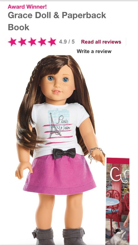 Mini doll American Girl of the Year 2015 Grace Doll and Paperback Book 6 inch