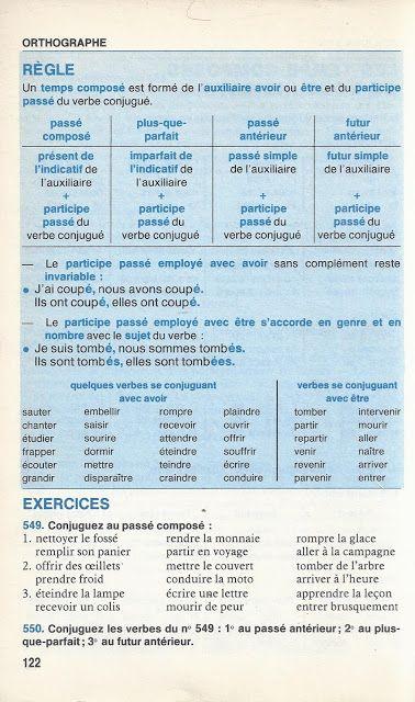 Bled Cours D Orthographe Cours Moyen Classes De 6e Et 5e 1985 Orthographe Temps Composes Participe Passe