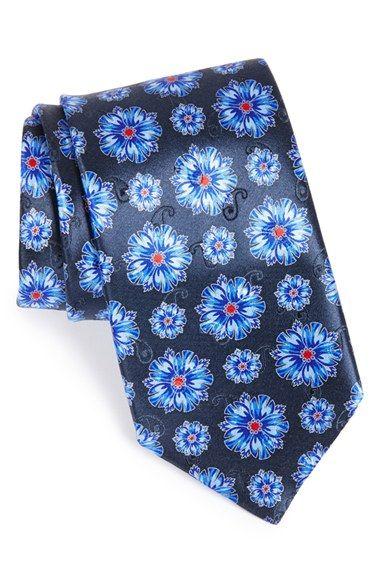 Men s Ermenegildo Zegna Floral Silk Tie  68a818ebad4