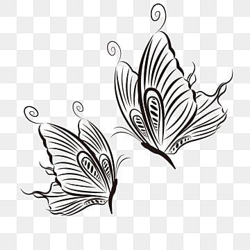 فراشة خطية فراشة Clipart أبيض وأسود عصا الفراشة فراشة سوداء وبيضاء Png والمتجهات للتحميل مجانا Black Butterfly Artwork Abstract Artwork