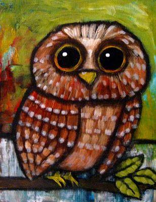 Owl art by Suzan Buckner