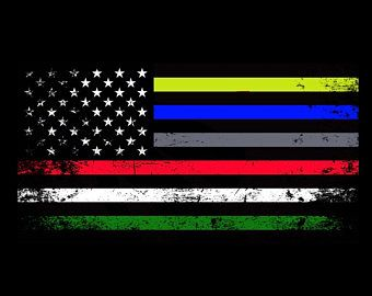 """1-6/"""" Thin GREEN Line American Subdued Flag Decal USA US Military Sticker R"""