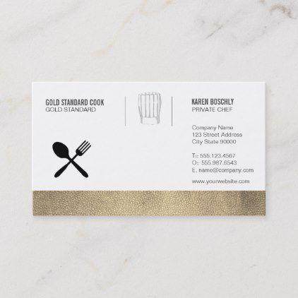 Executive Gold Chef Business Card Zazzle Com Business Template Business Cards Execution