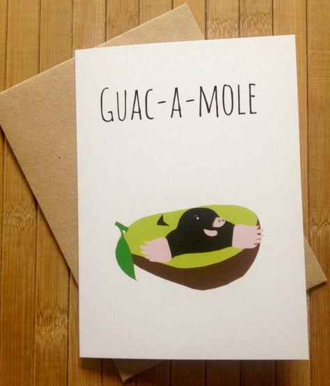 Guac-a-mole - Greetings Card GBP) by GuacamoleDesignsUK