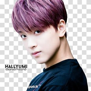 Haechan Nct Maroon Haired Man With Text Overlay Transparent Background Png Clipart In 2021 Overlays Transparent Background Overlays Transparent Transparent Background