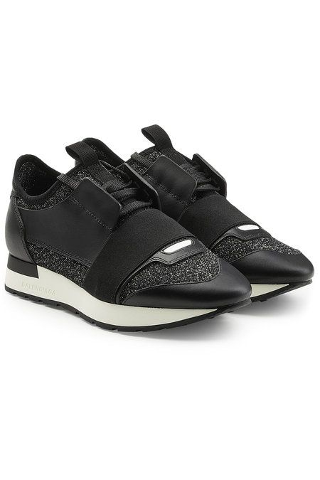 Race Runner Sneakers with Leather