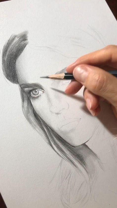 Work in progress. Portrait of Natalia Vodianova - #pencilart