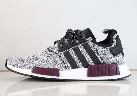 Adidas NMD R1 Champs Exclusive Burgundy Reflective 3M Black Grey Maroon  B39506 6c18a4b4b