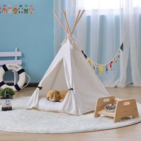 online store 955cb 4d603 Amazon.com : little dove Canvas Pet Teepee Pet Kennels Pet ...