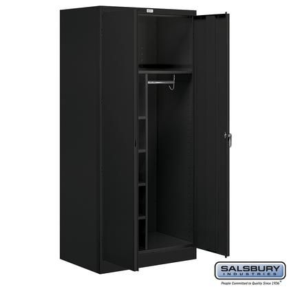 9274blk A 36 Wide Combination Storage Cabinet 78 Inches High 24 Inches Deep Black Wardrobe Storage Cabinet Storage Cabinets Wardrobe Storage