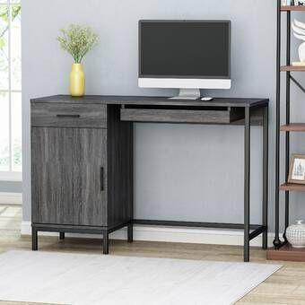 Adeptus Solid Wood Desk Contemporary Computer Desk Best Home Office Desk Enclosed Storage Cabinets