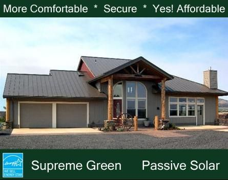 RUSTIC- Green Energy Efficient Home Passive Solar House Plan ...