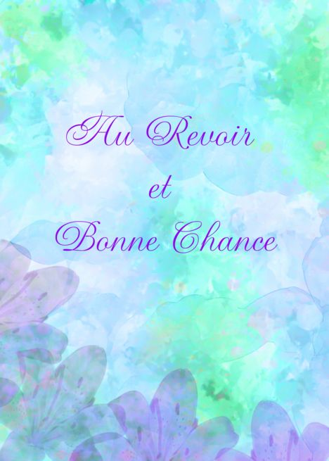 Au Revoir Card Greeting Cards Cards Messages