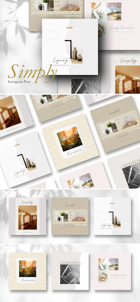 Simply Instagram Post Templates PSD