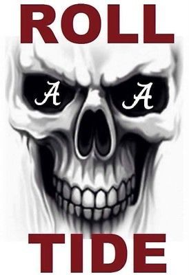 Alabama Crimson Tide Skull A Eyes Roll Tide Alabama Crimson