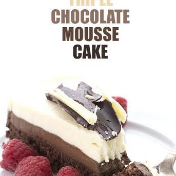 Triple Chocolate Mousse Cakes Recipe In 2020 Chocolate Mousse