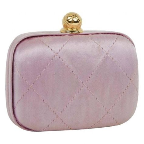 4d21f827bdf7 Pre-owned Chanel Silk Clutch Bag (18,915 EGP) ❤ liked on Polyvore featuring  bags, handbags, clutches, pink, pink purse, preowned handbags, chanel  clutches, ...