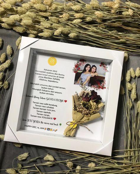 Dried Flowers In Frame Special Premium Import Dried Flowers In Frame Birthday Gift For Ms Gracia Cre Bunga Kering Ide Hadiah Hadiah Wisuda Kelulusan
