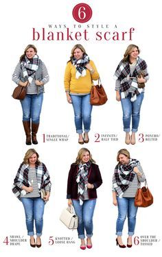 Teal and Polka Dots: 6 Ways to Style a Blanket Scarf Source by darshonica fashion curvy