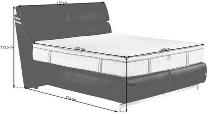 Boxspringbett 180 200 Cm In Braun In 2020 Mattress Bed Home Decor