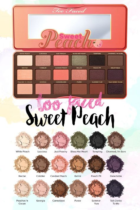 Too Faced Sweet Peach Eyeshadow Palette | Makeup A to Z | Bloglovin'
