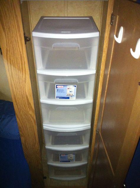 lazy way to maximize storage in awkward closets