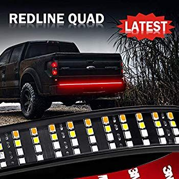 Amazon Com Opt7 48 Redline Triple Led Tailgate Light Bar W Sequential Amber Turn Signal 788 Led Solid Beam Led Tailgate Light Bar Tailgate Weatherproofing