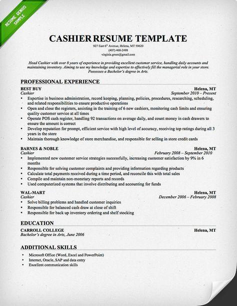 Cashier Job Description For Resume Delectable Hristina (Magnetiks1986) On Pinterest Review