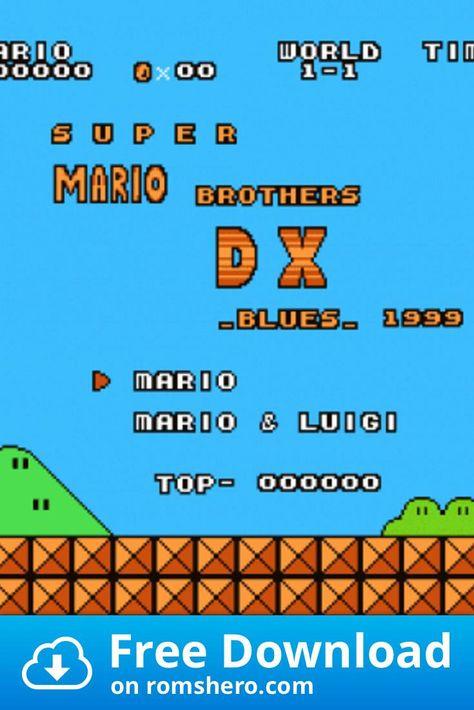 Download Super Mario Bros Dx Smb1 Hack Nintendo Nes Rom Super Mario Super Mario Bros Nintendo Nes