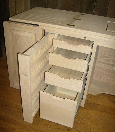 Jake's Amish Furniture – Sewing Machine Cabinet with Serger Lift Related posts:A Cute Japanese Coin PurseSewing machine table - Democratic UndergroundHow to Make Piping for a Slipcover