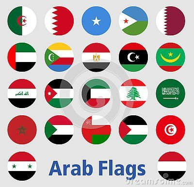 Illustration Of Flags Of Arab Countries Arabic Logo Flag Asia Eps Islam Islamic Vector Islamicart Africa Art Vectors C Illustration Flag Flag Art