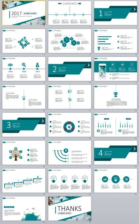 23 Blue Business Chart Report Powerpoint Templates With Images