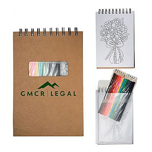Notebook Custom Coloring Book W Colored Pencils Epromos Notebooks Custom Coloring Books Spiral Bound Notebooks
