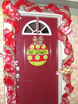 Super cute Christmas Door!
