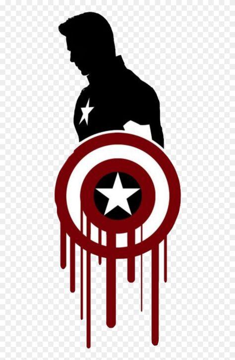 Black Captain America Tattoo Clipart (#5341051) - PinClipart