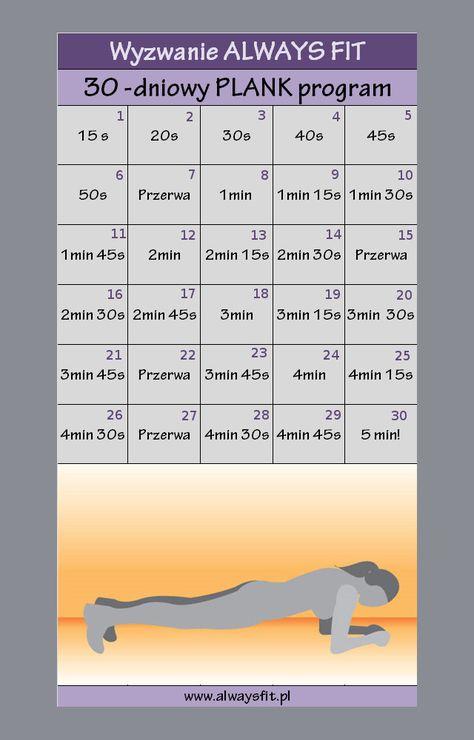 30 dniowe plank wyzwanie