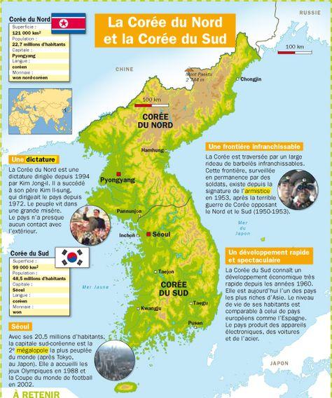 La Coree Du Sud Et La Coree Du Nord Coree Du Nord Geographie Et
