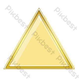 Golden Triangle Frame Beautiful Diamond Earrings Triangle Golden Triangle