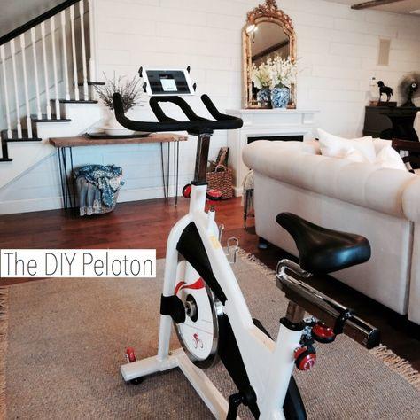 My Diy Peloton Peloton Life Hack Simply Summer Morgan Diy Peloton At Home Workouts At Home Gym