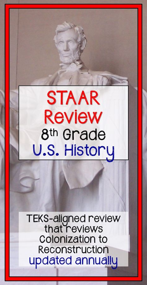 us history staar review 8th grade