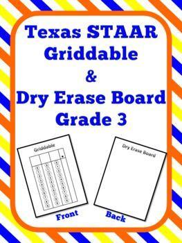 Griddable & Dry Erase Board Grade 3 STAAR Test | Grades 3-5