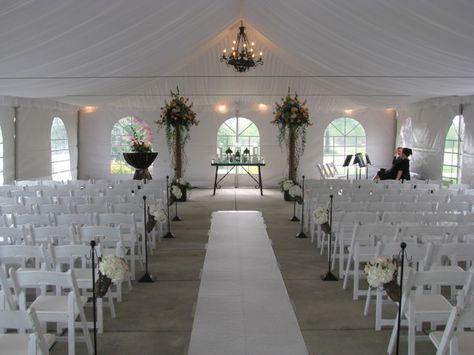 Wedding tent setup at Bear's Best Atlanta